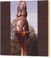 Cedar Moon Goddess Wood Print