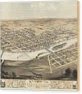 Cedar Rapids Iowa 1868 Wood Print