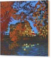 Cedarburg Mill At Night Wood Print