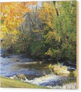 Cedarburg's Cedar Creek  Wood Print