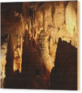 Ceiling Formations - Cave Wood Print