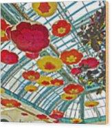 Ceiling Of Bellagio Conservatory In Las Vegas-nevada Wood Print