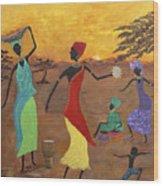 Celebrate Wood Print by Judy M Watts-Rohanna