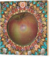 Celebrate The Apple Wood Print