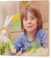 Celebrating Easter Holiday Wood Print