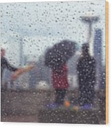Celebration In Rain A036 Wood Print
