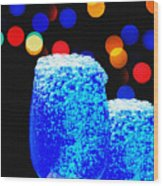 Celebrations With Blue Lagon Wood Print