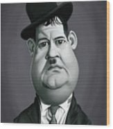 Celebrity Sunday - Oliver Hardy Wood Print