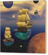 Celestial Armada Wood Print