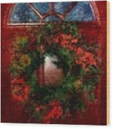 Celestial Christmas Wood Print