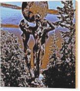 Celestial Conversation Morning Dawn Wood Print