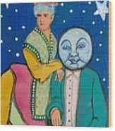 Celestial Couple Wood Print