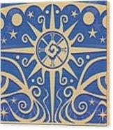 Celestial Gaze Wood Print