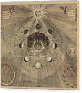 Celestial Map 1710b Wood Print