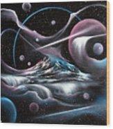 Celestial Mountain Wood Print