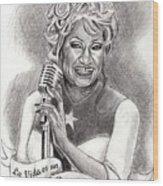Celia Cruz Wood Print