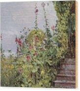 Celia Thaxters Garden Wood Print