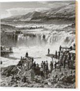 Celilo Falls Wood Print