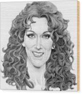 Celine Dion Wood Print