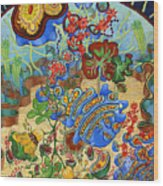 Cell Garden Wood Print