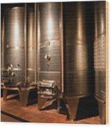 Modern Wine Cellar  Wood Print