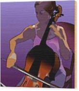 Cellist II Wood Print
