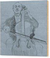 Cellist Wood Print