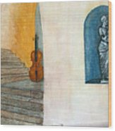 Cello No 2 Wood Print