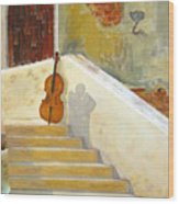 Cello No 3 Wood Print