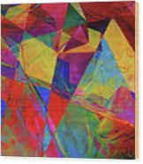 Cellophane Geometry Wood Print