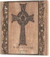 Celtic Cross Wood Print by Debbie DeWitt