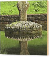 Ancient Celtic Cross At St Patrick Well Wood Print