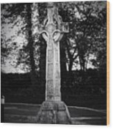 Celtic Cross In Killarney Ireland Wood Print by Teresa Mucha