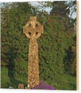Celtic Cross St Davids Church Wood Print