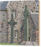 Celtic Crosses Wood Print
