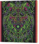 Celtic Day Of The Dead Skull Wood Print