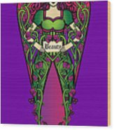 Celtic Forest Fairy - Beauty Wood Print