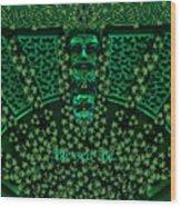 Celtic Green Man Wood Print