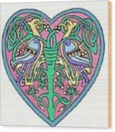 Celtic Heart Wood Print