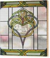 Celtic Heart Wood Print by Jane Croteau