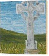 Celtic High Cross Wood Print