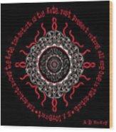Celtic Lovecraftian Cosmic Monster Deity Wood Print
