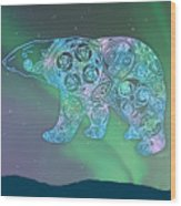 Celtic Polar Bear Wood Print by Kristen Fox