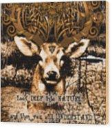 Celtic Stag Wood Print