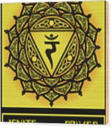 Celtic Tribal Solar Plexus Chakra Wood Print