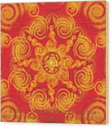 Celtic Tribal Sun Wood Print
