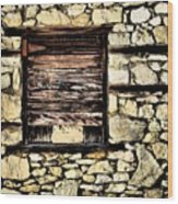 Cement Factory Window Wood Print