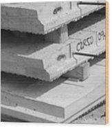 Cement Floors Wood Print