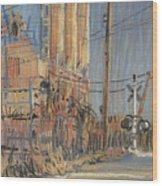 Cement Hopper Wood Print by Donald Maier