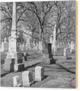 Cemetery 3 Wood Print